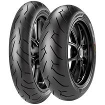Combo Pneu Moto Pirelli Diablo Rosso 2 120/70-17 + 200/50-17