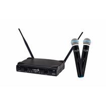 Microfone Sem Fio Duplo Lyco Uh02mm Mão Uhf Pro Uh02