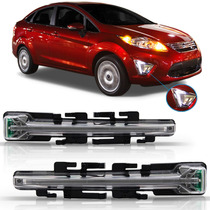 Par Farol De Milha Ford New Fiesta Mexicano 2011 12 2013 Led