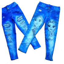 Kit 3 Calça Legging Jeans Fake Infantil Atacado Revenda