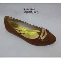 Baletas Moda Puntuda Miel Zapatos Mujer Dama Envío Gratis