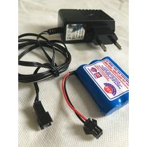 Kit Bateria 3.6v 500mah E Carregador Original Da Candide