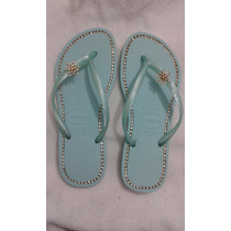 Havaianas Slim Customizada - Strass E Piercing