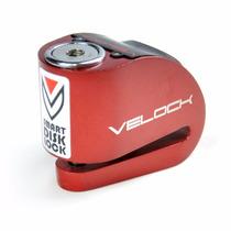Trava Disco Moto Com Alarme E Led Velock - Envio Mesmo Dia