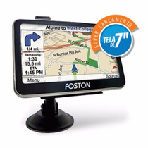 Gps Foston 717 Tv Digital Camera Ré Bluetooth Mapa Brasil