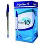 Caneta Esferográfica 1.0 Caixa Com 50 Unid Cor Azul Ou Verm