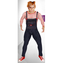 Disfraz Chucky Hombre Ideal Para Halloween Unitalla Y Grande