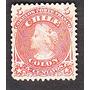 Estampilla Sello Antiguo 5 Centavos Rojo Busto De Colon