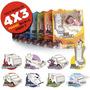 4x3 Set Juguetes Para Armar Niños Cartón Casita Auto Camión