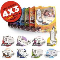 4x3 Set Juguetes Niños Ecológico Cartón Casita Auto Camión