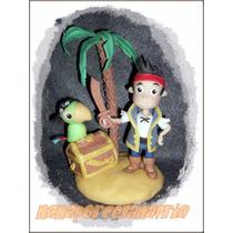 Adorno Para Torta Jake El Pirata En Porcelana Fría