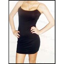 Vestido Musculosa De Modal (detalles En Dorado Breteles)