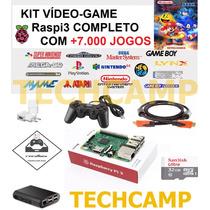 Kit Video Game Multijogos Recalbox Raspberry Pi3 7500 Jogos