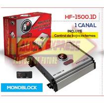 Amplificador 1 Canales C/control De Bajos Externos Hf1500.1d