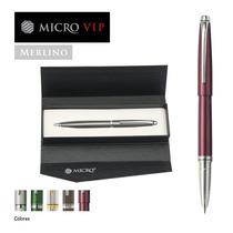 Lapicera Micro Vip Merlino Oferta 20 U. + Estuches Y Bolsas