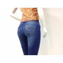 Calça Jeans Feminina Cintura Média Lançamento Lavagem Clara