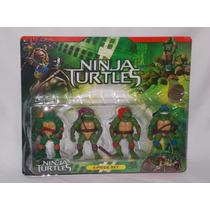 Kit 4 Bonecos Articulados-tartarugas Ninja - O Filme