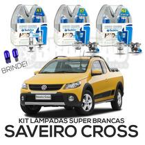 Kit Lâmpadas Super Brancas Tech One Saveiro Cross G5 G6
