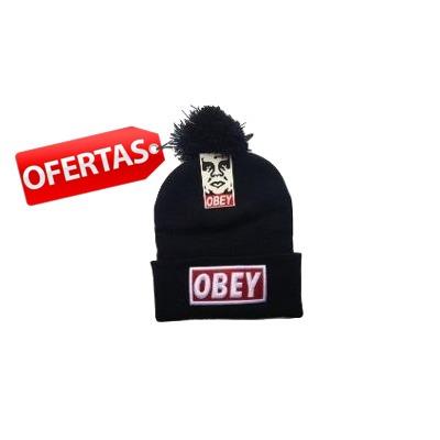 Promoção Gorro Touca Obey Preto Com Pompom Pronta Entrega - R  35 b8c8183d3f4