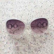 Óculos De Sol Feminino Lentes Grandes Oval Degrade + Case