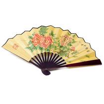 Leque De Tecido Com Bambu Flor Para Lembrancinha Casamentos