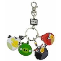 Angry Birds Metal Llavero Estilo 2 White Bird, Pig, Pájaro