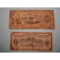 Billetes Antiguos De1914 Del Gobierno Provisional De México