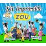 Kit Imprimible Zou La Cebra Candy Bar Cumples