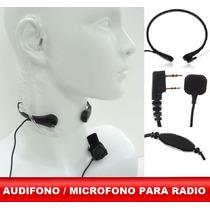 Manos Libres Radio Vhf Uhf Profesional Escolta Tubo Aire Ptt