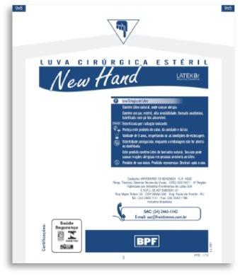 Luva Estéril New Hand 8.5 Kit C 10 Unidades - R  24,50 em Mercado Livre 13f9e0b45f