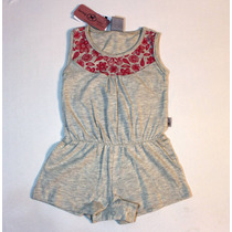 Vestido Body Cinza Hering Menina Outlet 1-3 Meses