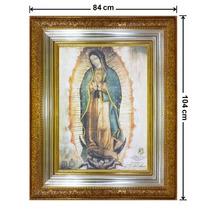 Cuadro Hoja De Oro Y Plata, Virgen, 84x104cm