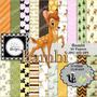 Kit Imprimible Bambi 20 Clipart - 30 Fondos.