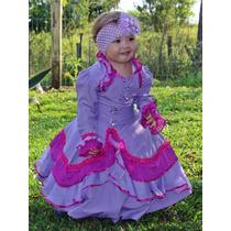Vestido Prenda Infantil C/ Saia Armação Tam 1-2-3 Gabriela