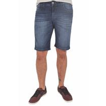 Bermuda Jeans Masculina Blue Lavação Média 879 Sint