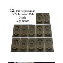 Lote 12 Pestañas Postizas Tira Extension Cabello Natural