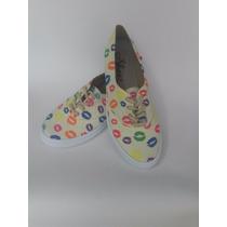 Calzado Zapato Bolichero Pisahuevo Besos Dama Envío Gratis