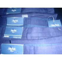 Pantalon Nautica De Lino Talla 32x32 Azul