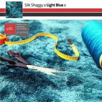 Tapete Shaggy Fio Seda : Azul Turquesa, Tiffany : 1,00x1,50m