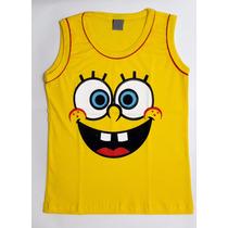 Camiseta Infantil Bob Esponja - Camisa - Regata - Blusa
