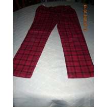 Pantalón Escoses Rojo Marca Zara Talla 7-8
