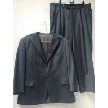 Terno Suit Makers Lã Fria Risca Giz Super 120
