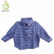 Camisa Manga Tres Cuartos Para Niño - Lemon C2-00005
