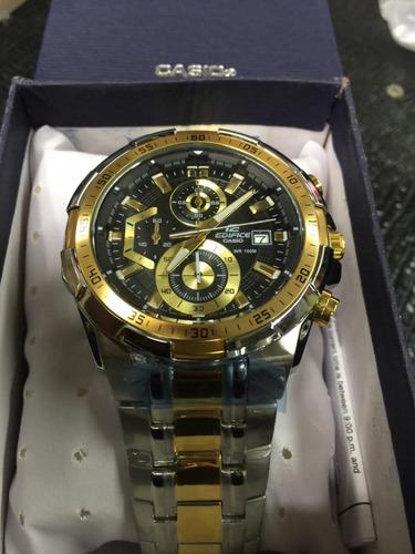 8d569232fa7 Relógio Cassio Edifice 539 Prata E Dourado - R  349