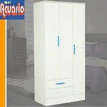Ropero Infantil Blanco, 3 Puertas-2cajones 0.90x1.80m. Envio