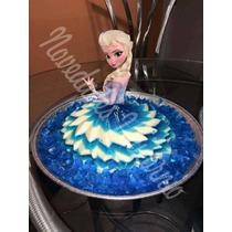 Molde Falda Vestido Frozen Gelatina Pastel Envio Gratis!!