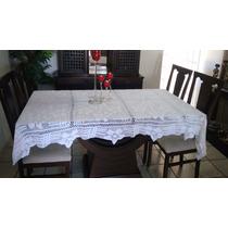 Toalha De Mesa Em Crochê Manual, Branca, Banquete