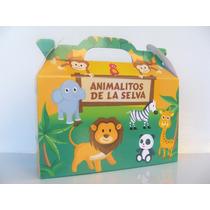 Cajita Golosinera Animalitos De La Selva Pack X30 Valijitas