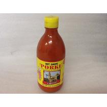 Salsa Porkie 100% Chile De Árbol, Caja Con 24 Pzs-370ml C/u
