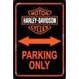 Carteles Antiguos 60x40 Parking Only Harley Davidson Pa-11